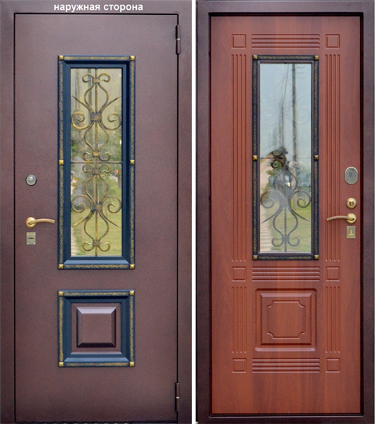входные двери со стеклом каталог цена